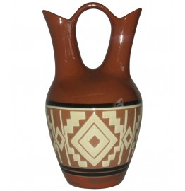 image for Mystic White Antique Lakota Wedding Vase 9.5 x 5.5