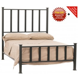 image for Mission Forged Iron Bed Cal-King Size Complete & FREE SHEETS