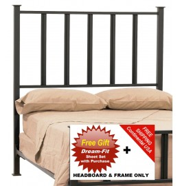 image for Mission Forged Iron HB & Frame Only Cal-King & FREE SHEETS