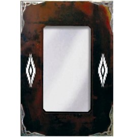 image for Navajo Diamond Burnished Southwest Mirror 36 x 25