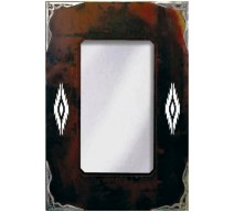 image for Navajo Diamond Burnished Southwest Mirror 30 x 20