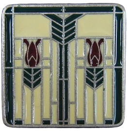 image for Prairie Tulips Southwest Pewter Knob Evergreen Enamel