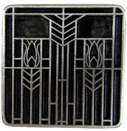image for Prairie Tulips Southwest Drawer Pull Knob Antique Pewter
