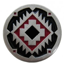 image for Southwest Treasure Red & Black Knob 1-3/8 in