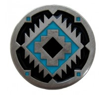 image for Southwest Treasure Turquoise & Black Knob