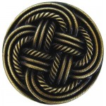 image for Basketweave Antique Brass Pull Knob 1-3/16
