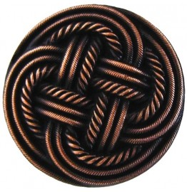image for Basketweave Antique Copper 1-3/16 Knob