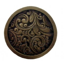 image for Saddleworth Drawer Knob Antique Brass