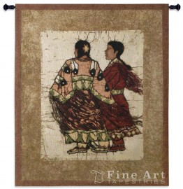 image for Native Sisters Southwest Wall Tapestry & Rod 42 x 53