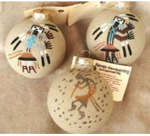 image for SOLD OUT Navajo Sand Painted Southwest Christmas Ornament