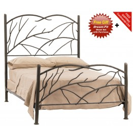 image for Norfolk Iron Bed King Complete & FREE SHEETS