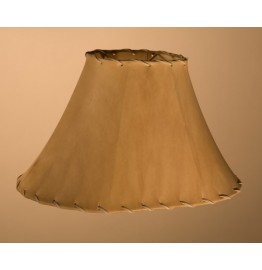 image for Racetrack Oval Natural Rawhide Sheepskin Leather Lampshade Small