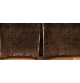 image for Ranger Brown Faux Leather Tailored Bedskirt
