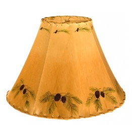 image for Pinecones Hand Painted Leather Lampshades