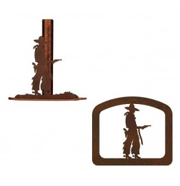 image for Cowboy Pistol Drawn Paper Towel & Napkin Holder