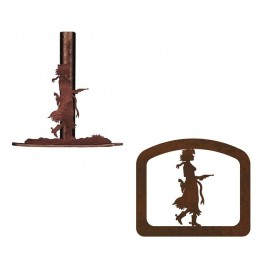 image for Cowgirl Pistol Drawn Paper Towel & Napkin Holder