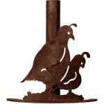 image for Custom Order - Quail Southwestern Paper Towel Stand Rust Patina