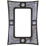 image for Burnished Steel & Concho Western Ranch Wall Mirror 36 x 25