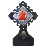 image for Red Jasper Stone on Burnished Steel Robe Hook