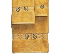 image for Horseshoes & Rope 3-Pc Bath Towel Set Gold