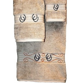 image for Horseshoes & Rope 3-Pc Bath Towel Set Linen