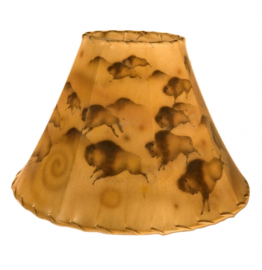 image for Buffalo Cave Art Hand Painted Leather Lampshades