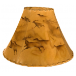 image for Elk Cave Art Hand Painted Leather Lampshades