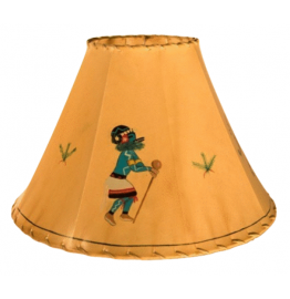 image for Kachina Dancer Hand Painted Leather Lampshades