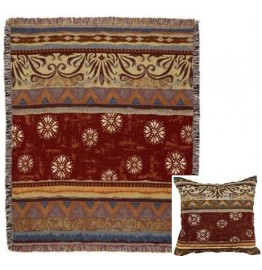 image for Santa Fe Style Southwest Tapestry Throw & Pillow Set