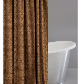 image for Shaw Bark Chenille Luxury Custom Shower Curtain