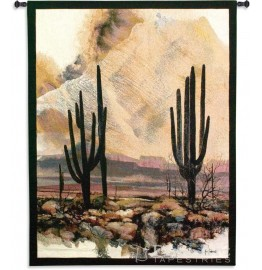 image for Sonoran Sentinels Southwest Wall Tapestry & Rod 53 x 40