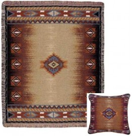 image for Southwest Tapestry Throw & Pillow Set