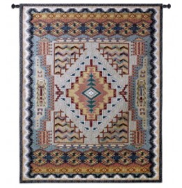 image for Southwest Turquoise Sampler Wall Tapestry 41 x 53