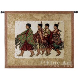image for Native Squaws Southwest Wall Tapestry & Rod 53x42