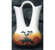image for Sunset Canyon Navajo Wedding Vase 7.5x12