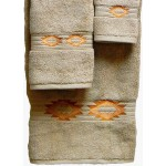 image for Gallop Southwest Medallion 3-Pc Bath Towel Set Linen
