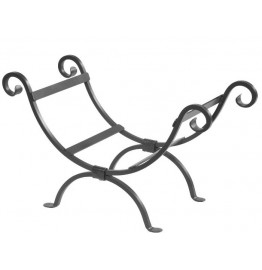 image for Shepherds Crook Forged Iron Log Basket 900-360