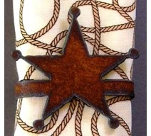 image for Sheriffs Star Metal Napkin Rings Set of 8