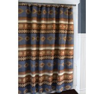 image for Sierra Blue Southwest Chenille Fabric Shower Curtain