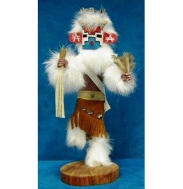 image for SNOW Kachina Doll Navajo Made 3 sizes
