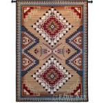 image for Southwest Sampler Cornflower & Red Wall Tapestry & Rod 53 x 76