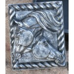 image for Anam Cara Sculpted 3-D Horse Heads Trinket Box