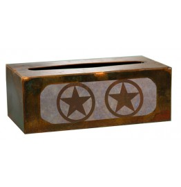 image for Texas Star Western Metal Rectangle Tissue Box Cover