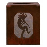 image for Kokopelli Southwest Metal Square Tissue Box Cover