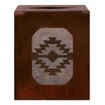 image for Desert Diamond Southwestern Metal Square Tissue Box Cover
