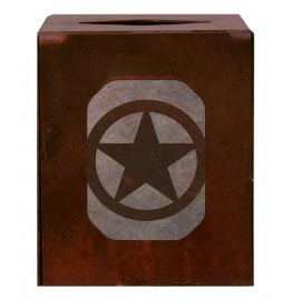 image for Texas Star Western Metal Square Tissue Box Cover