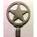 image for Texas Ranger Star Western Lamp Finial Topper
