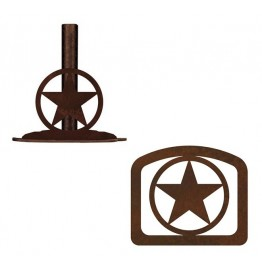 image for Texas Ranger Star Western Paper Towel Stand & Napkin Holder