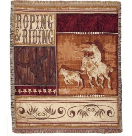image for Roping & Riding Western Tapestry Throw Blanket
