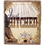image for Just Hitched Western Tapestry Throw Blanket